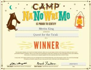 camp certificate